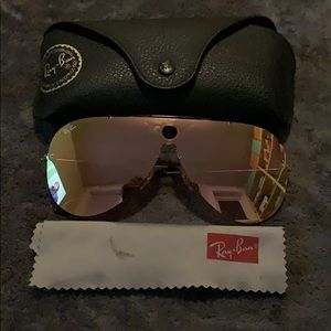 Limited edition Ray Ban Aviator flash lenses